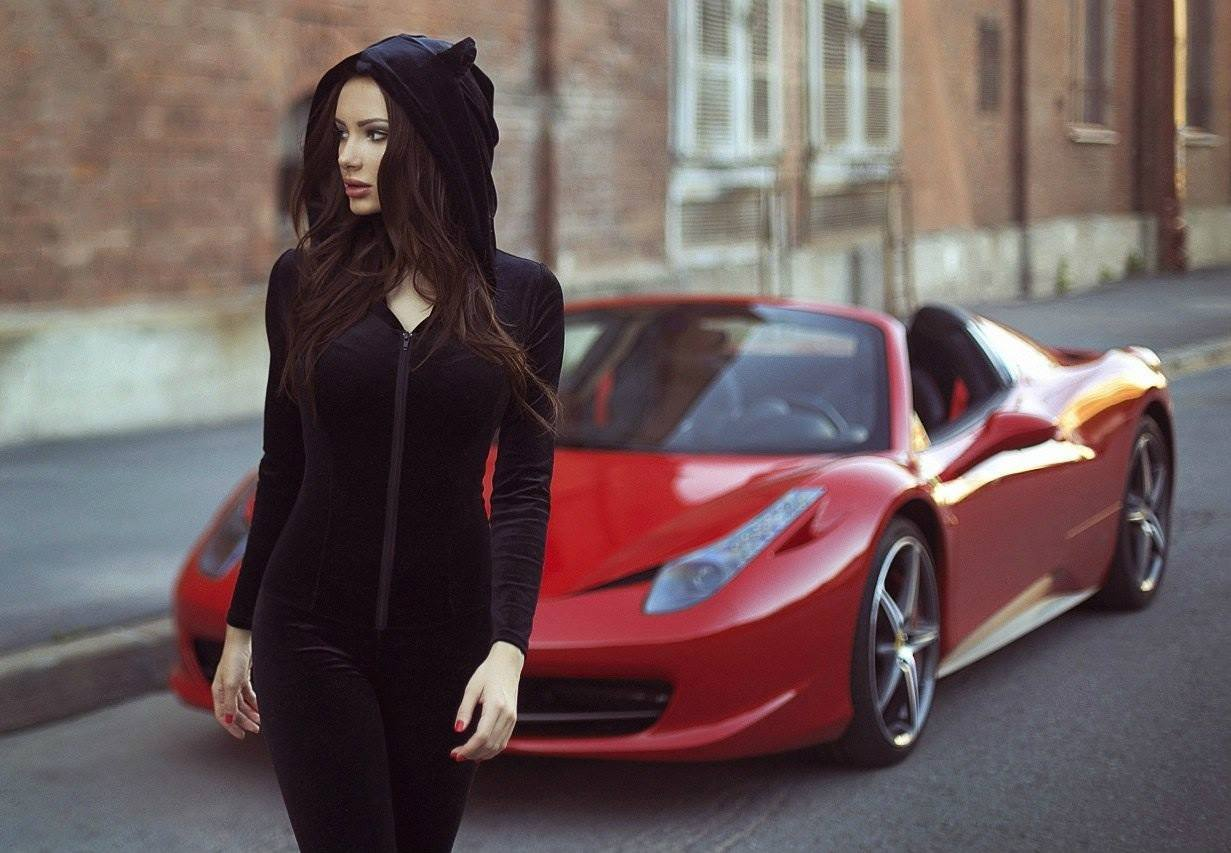 2015 Ferrari 458 Speciale >> Julia Adasheva Is a Russian Brunette with a Ferrari 458 Spider - autoevolution
