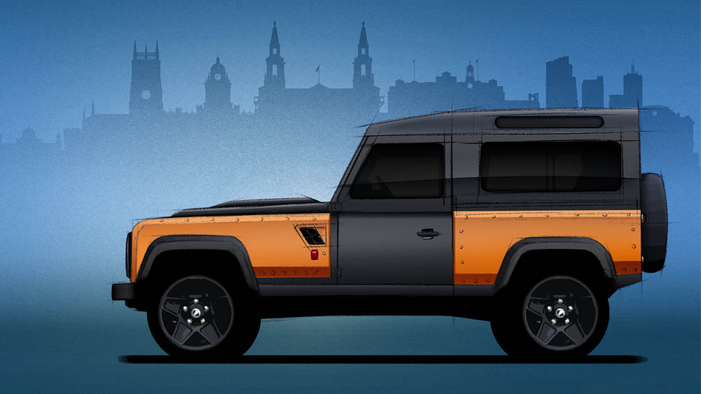 Kahn Body Kit Defender >> Kahn Design Teasing the Ultimate 6.2 V8 Land Rover Defender Longnose - autoevolution
