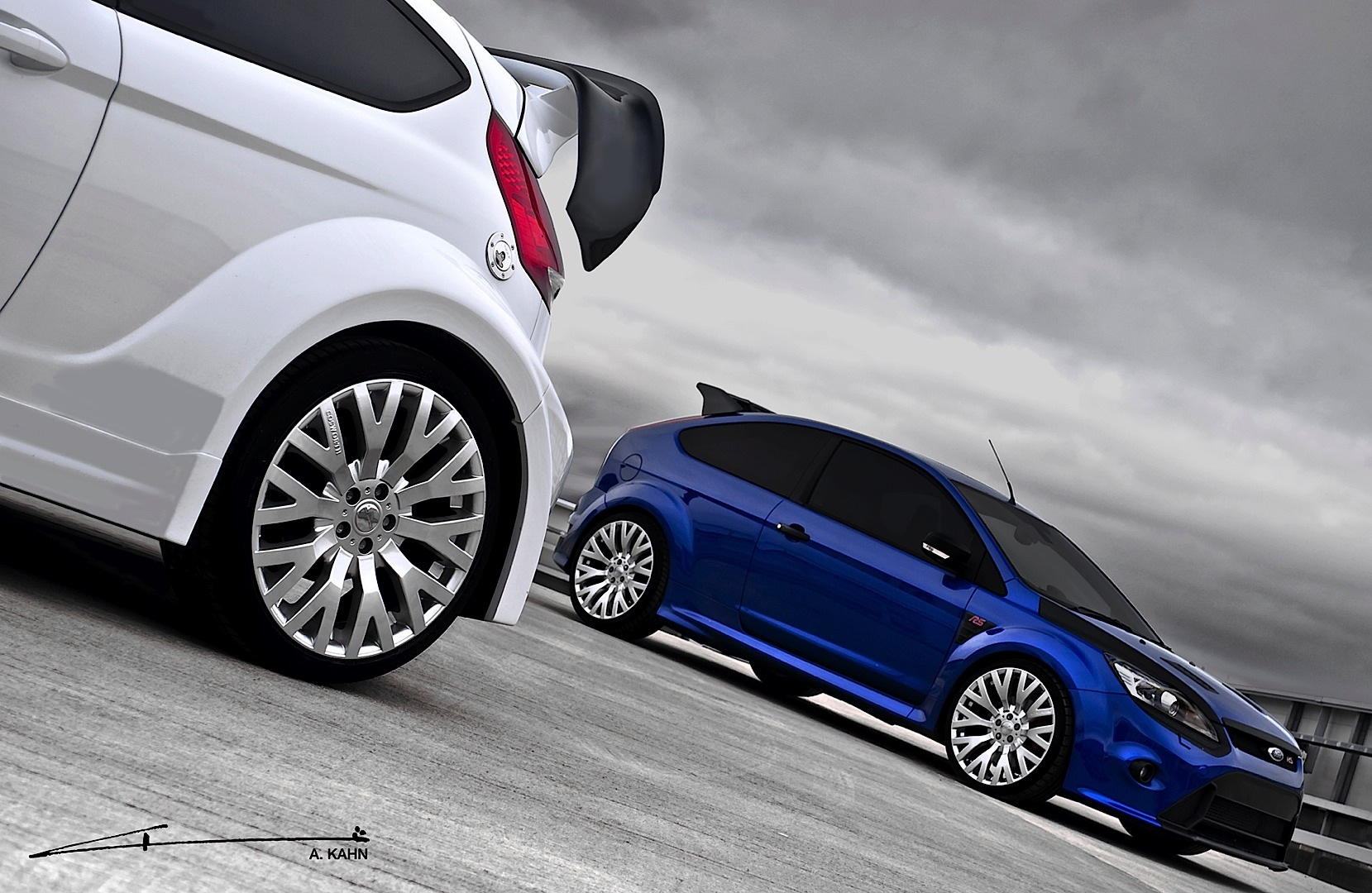 Kahn Ford Focus Rs And Fiesta St With Cosworth Wheels