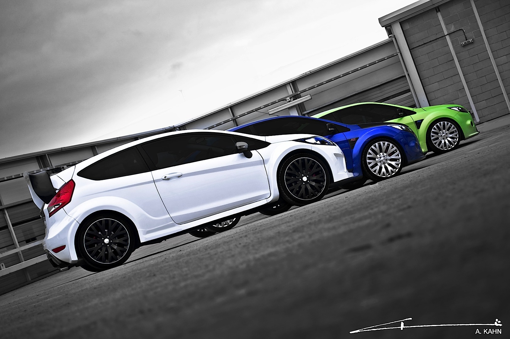Kahn Ford Focus Rs And Fiesta St With Cosworth Wheels Released