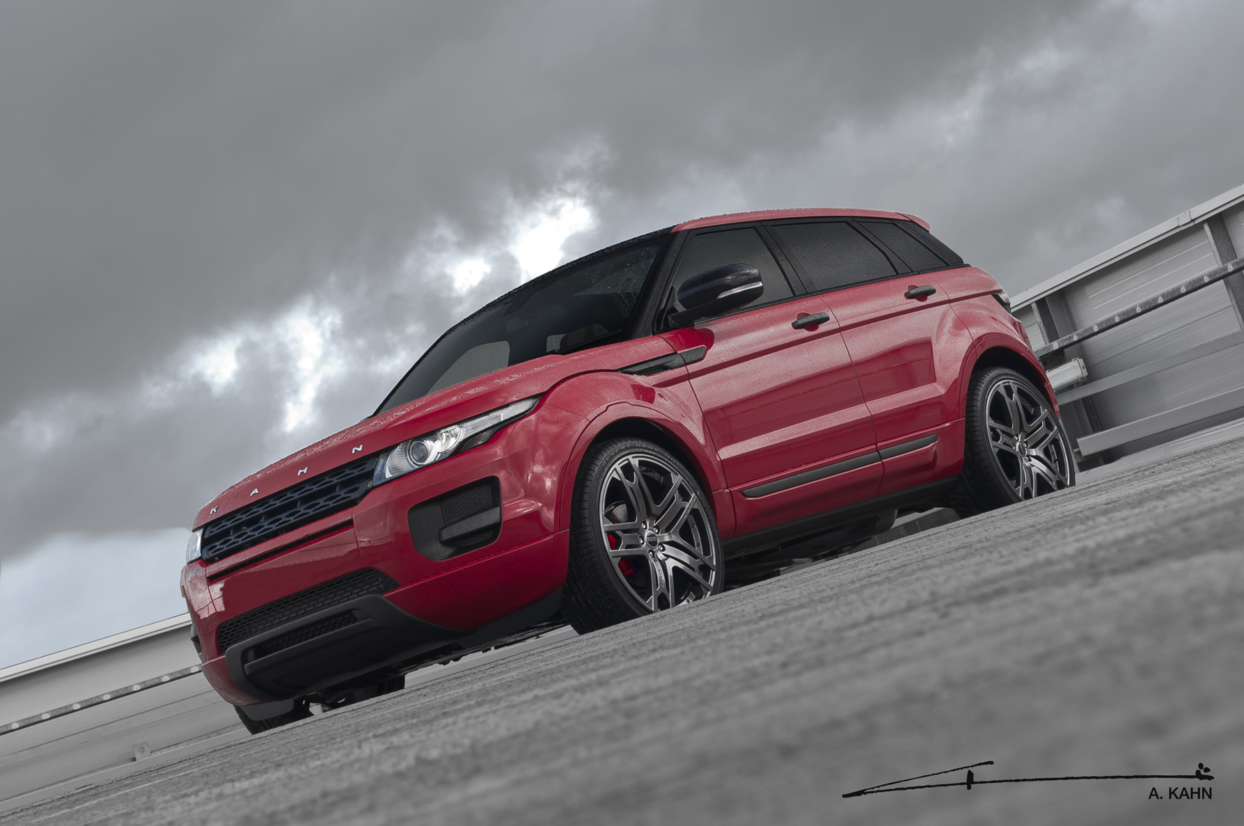 Kahn Red Range Rover Evoque Autoevolution