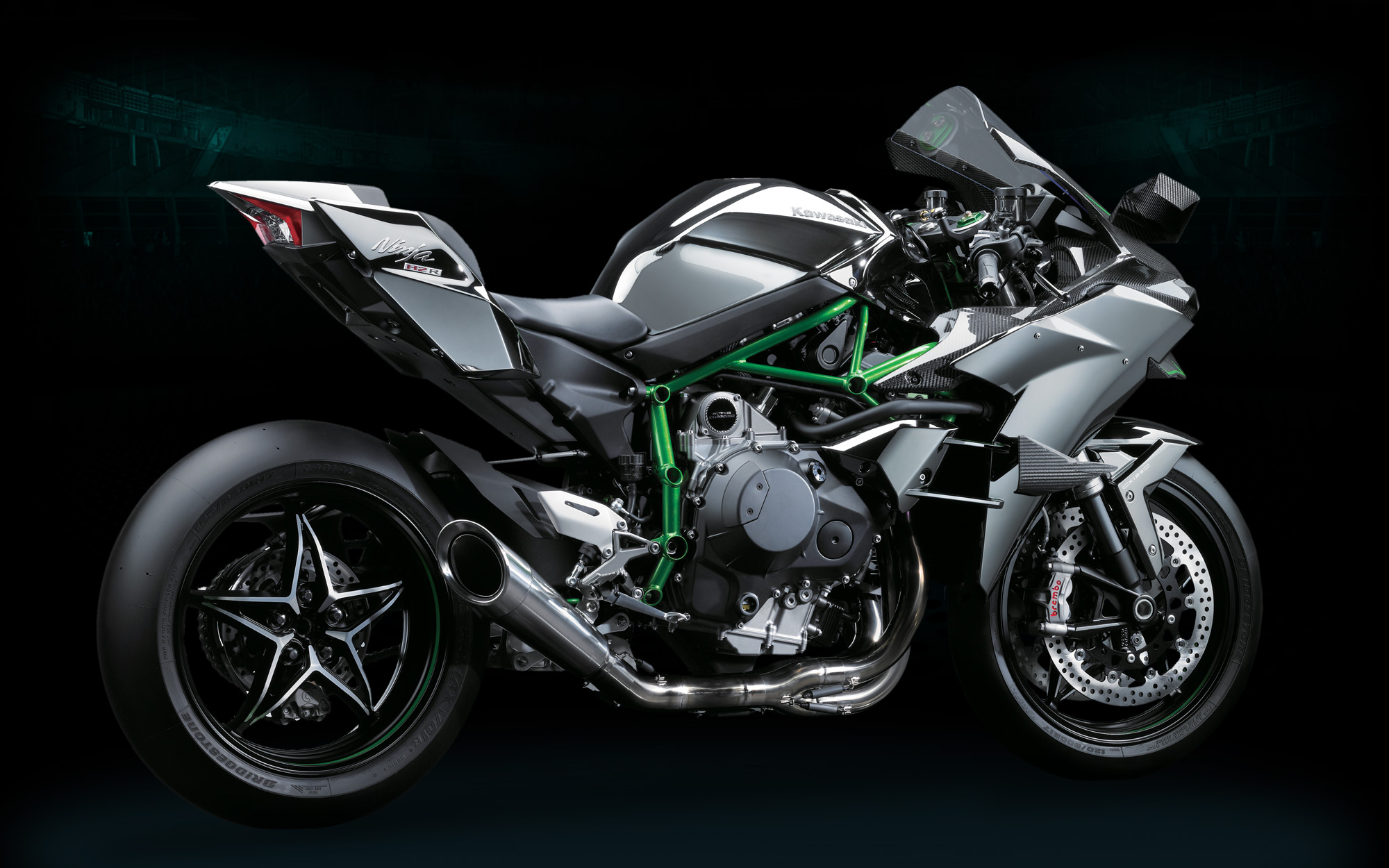 kawasaki ninja h2r pics and video show a game changer - autoevolution