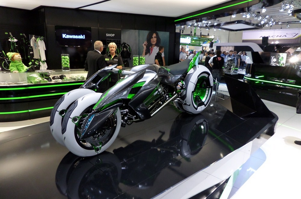 Kawasaki Shows Variable Architecture J Concept At Intermot