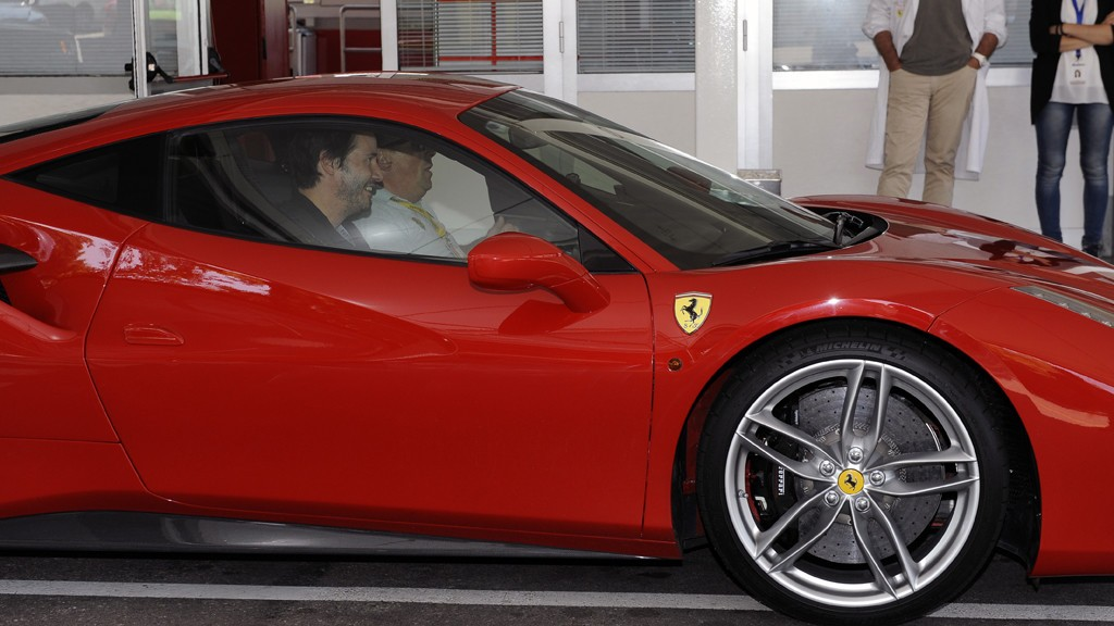 Keanu Reeves Visits Ferrari Headquarters Drives 488 Gtb