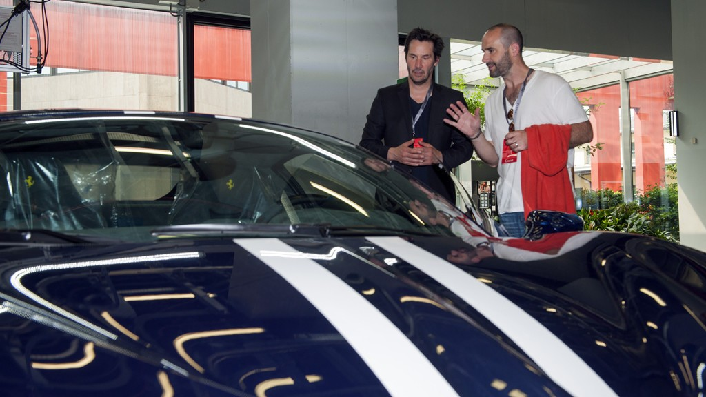 Keanu Reeves Visits Ferrari Headquarters Drives 488 Gtb