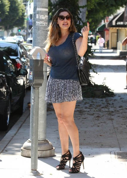 Kelly Brook Seen Driving Her Mercedes C250 Miniskirt And