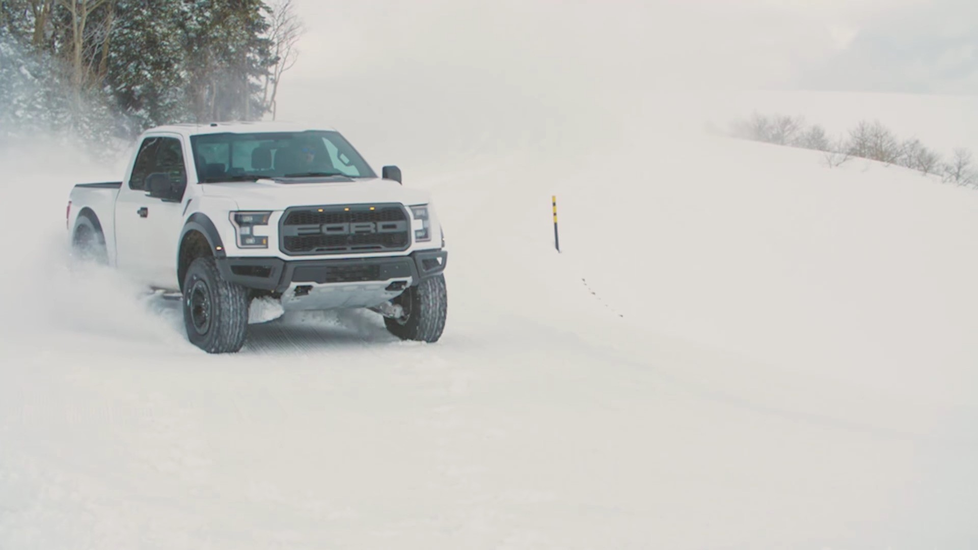 Ken Block Drives the Wheels Off the 2017 Ford F-150 Raptor In Fresh Snow - autoevolution