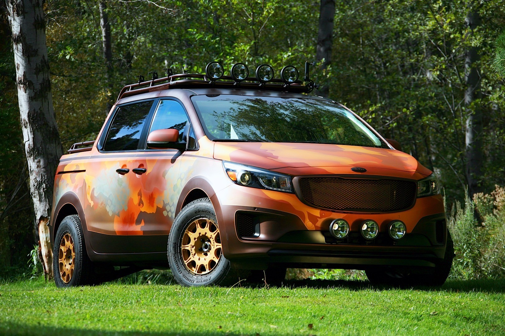 Kia brought four all new concepts at sema celebrating for Kia motor company usa