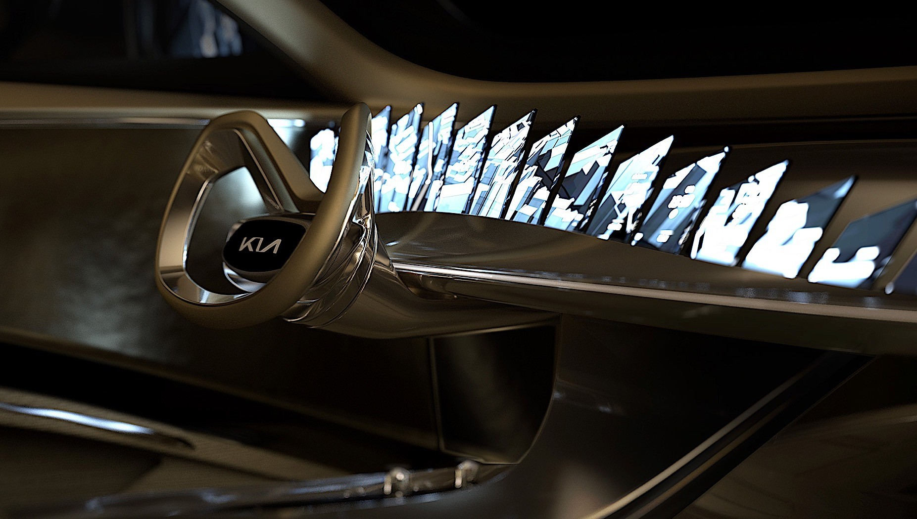 kia electric concept is a house of mirrors with 21 high resolution screens