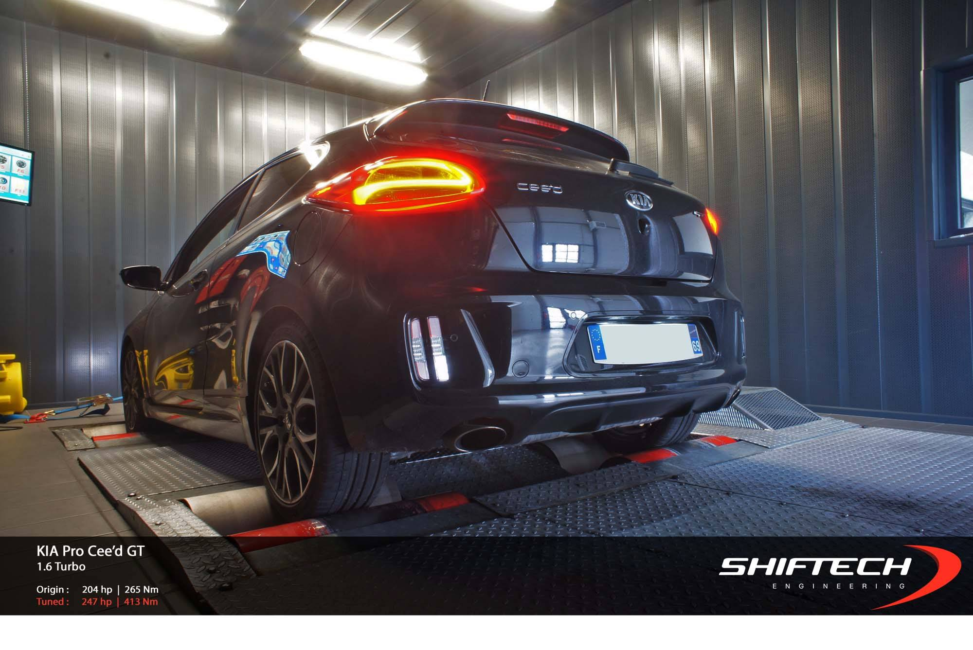 Kia pro_cee d gt tuned to almost 250 hp by shiftech