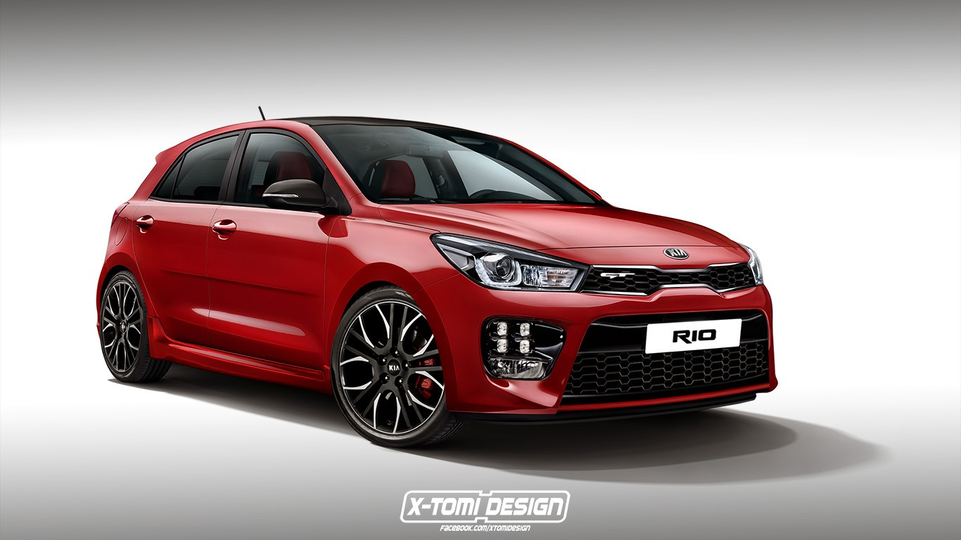 kia rio 3 door rendering joins the gt in the digital world autoevolution. Black Bedroom Furniture Sets. Home Design Ideas