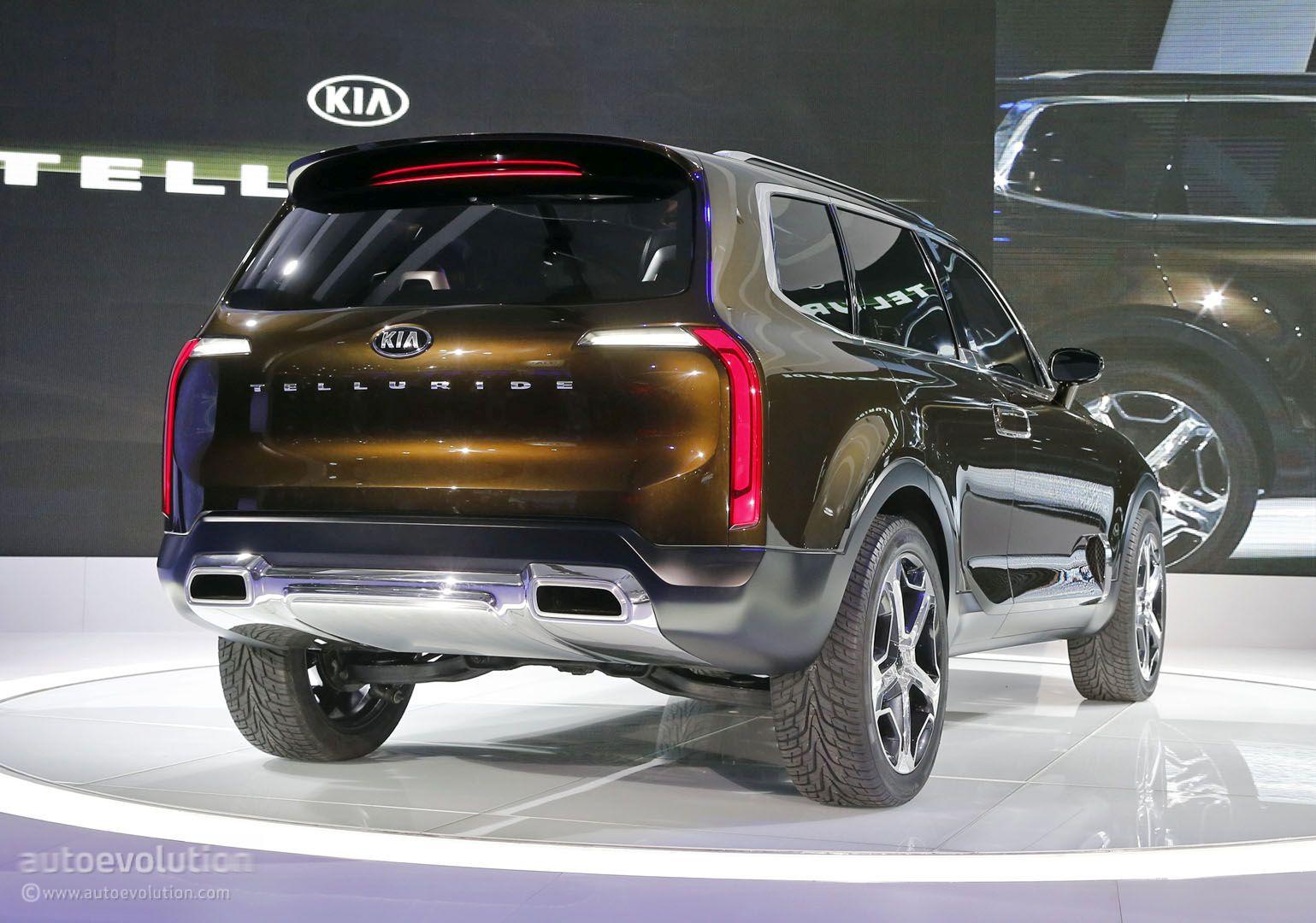 Kia Telluride Concept Mixes Hybrid Hp Sorento Platform And