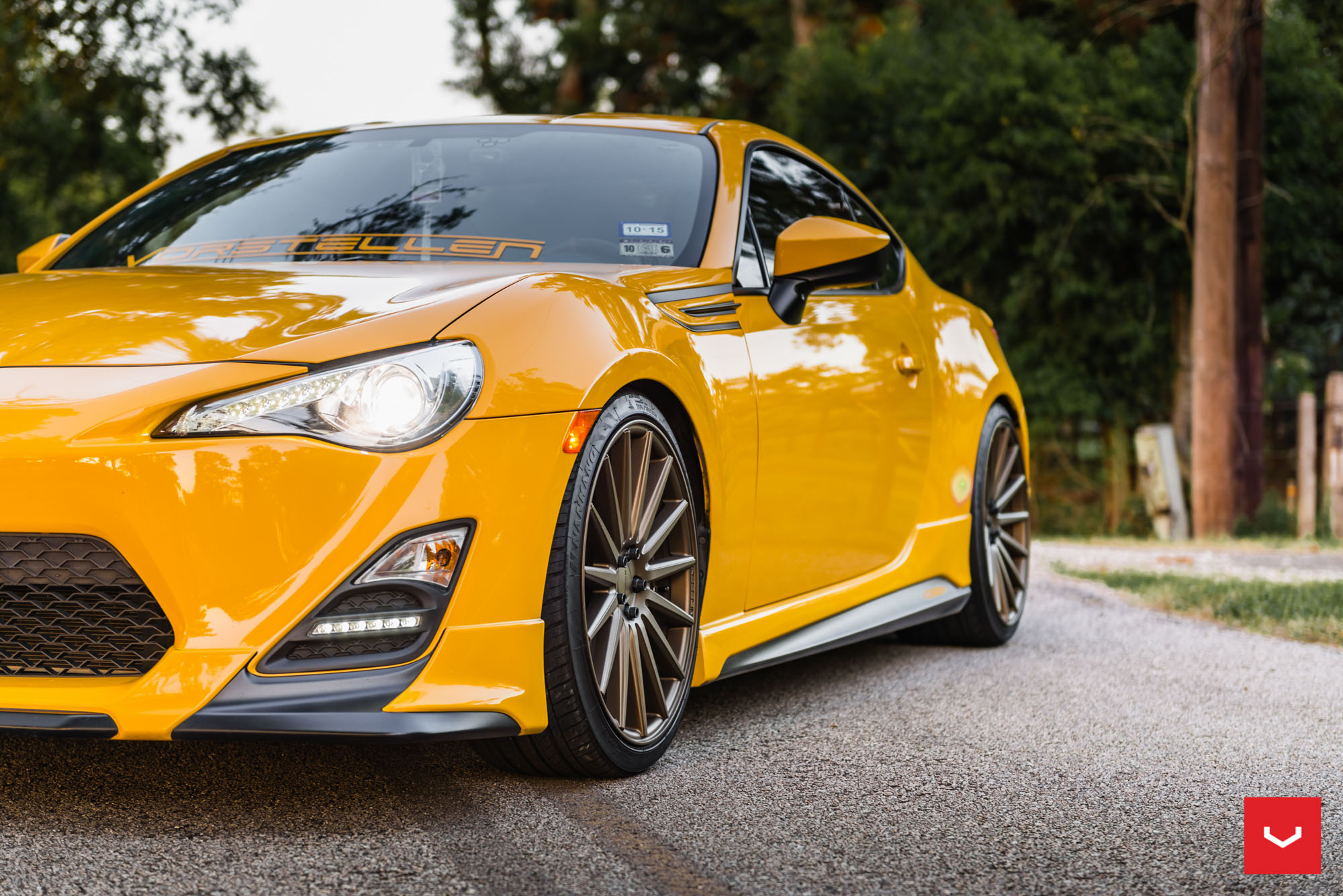 gorgeous rocket bunny scion fr s goes for a night drive. Black Bedroom Furniture Sets. Home Design Ideas