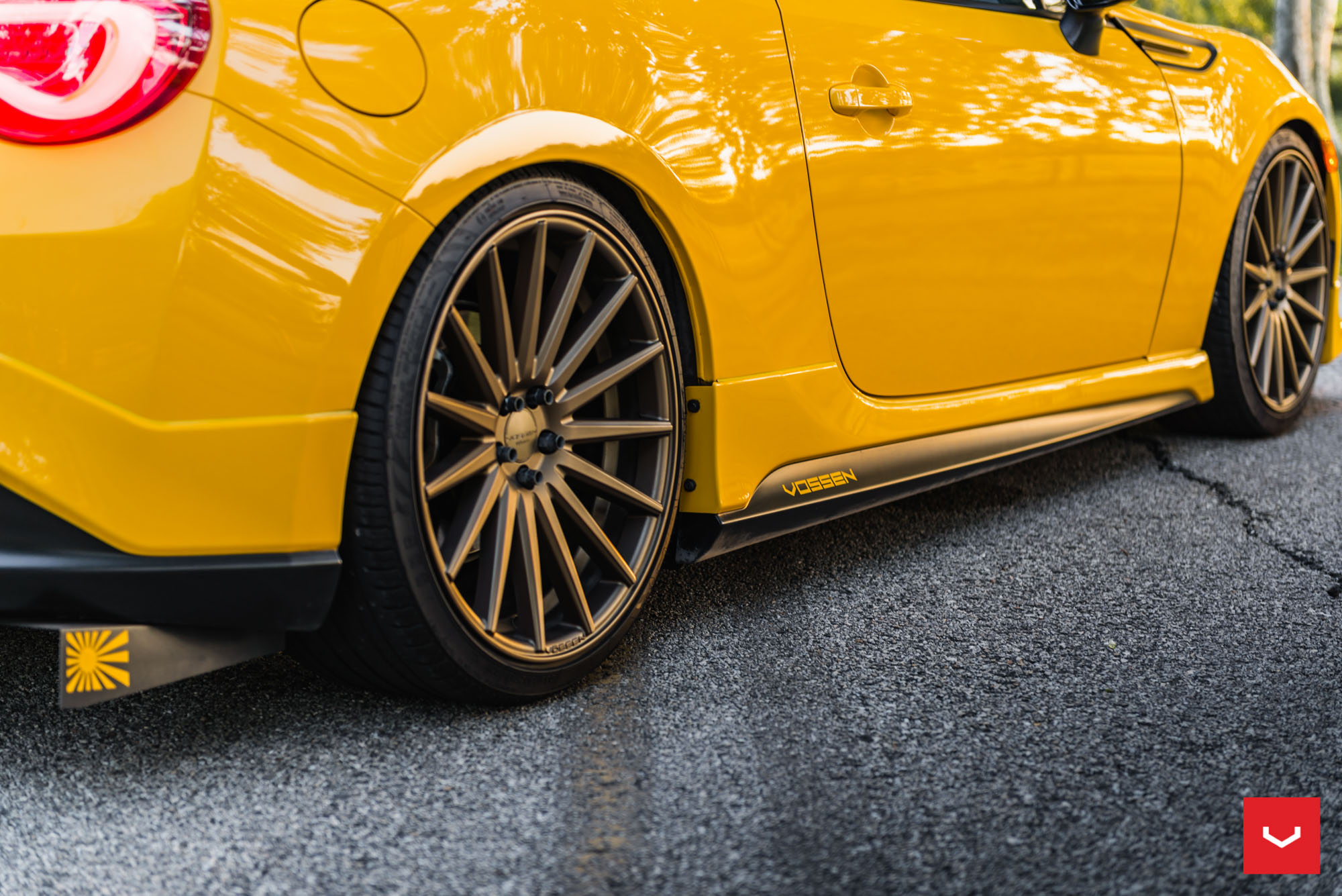 Killer Scion FR-S with TRD Kit Gets Bronze Vossen Wheels - autoevolution