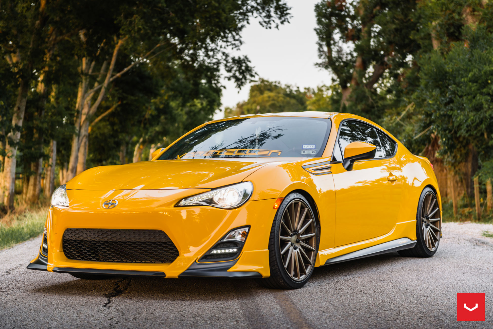 Killer Scion FR S with TRD Kit Gets Bronze Vossen Wheels autoevolution