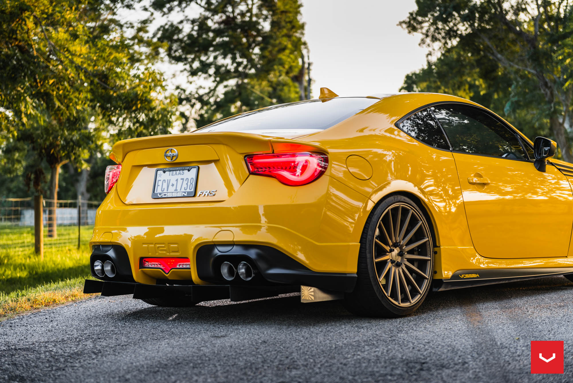 Killer Scion Fr S With Trd Kit Gets Bronze Vossen Wheels Photo Gallery