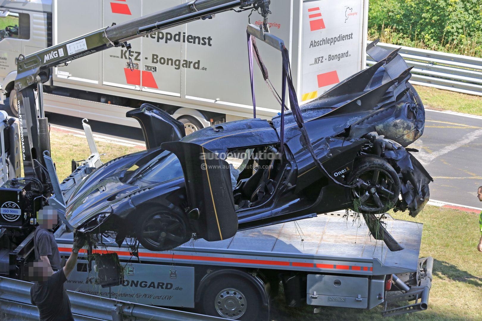 Update Koenigsegg One 1 Destroyed In Nurburgring Crash
