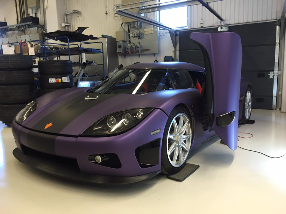 Koenigsegg's Tribute to Prince Is a CCXR Wrapped in Purple ...