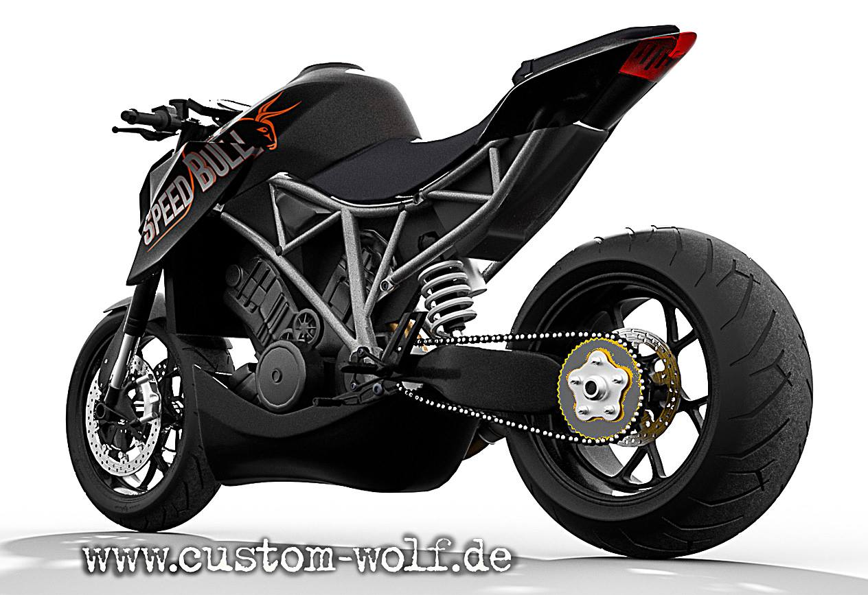 ktm 1290 super duke r becomes speed bull concept. Black Bedroom Furniture Sets. Home Design Ideas