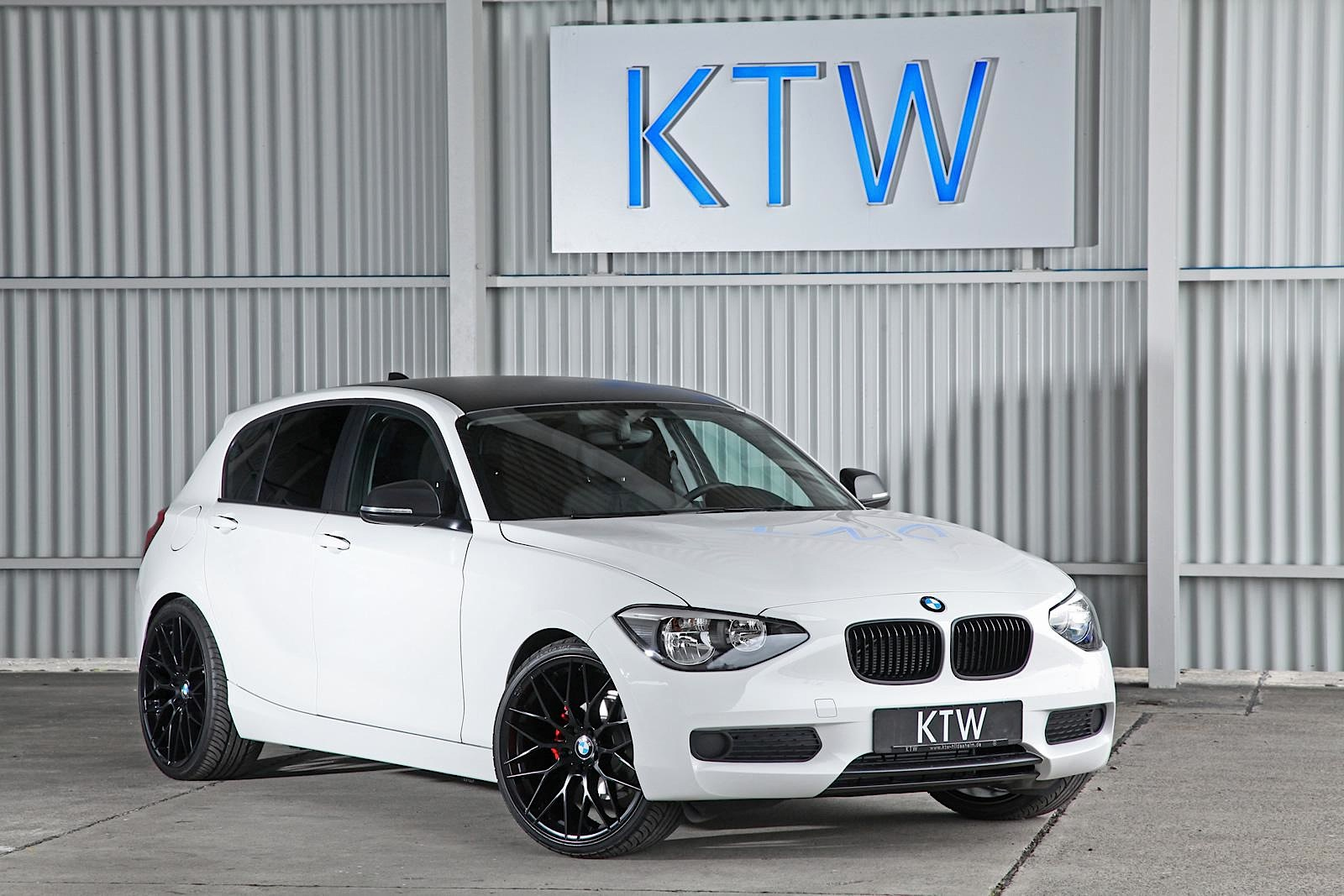 ktw launches black and white package for bmw 1 series autoevolution. Black Bedroom Furniture Sets. Home Design Ideas