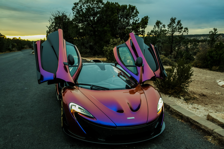 How Much Is A Paint Job >> L.A. Angels' Pitcher C.J. Wilson Takes His Purple McLaren ...