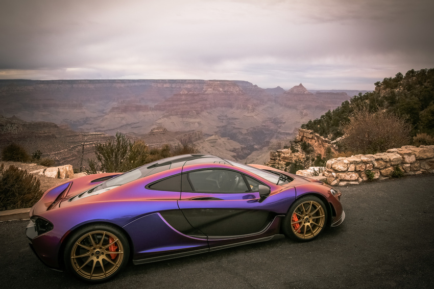 How Much Is A Car Paint Job >> L.A. Angels' Pitcher C.J. Wilson Takes His Purple McLaren P1 to the Grand Canyon - autoevolution