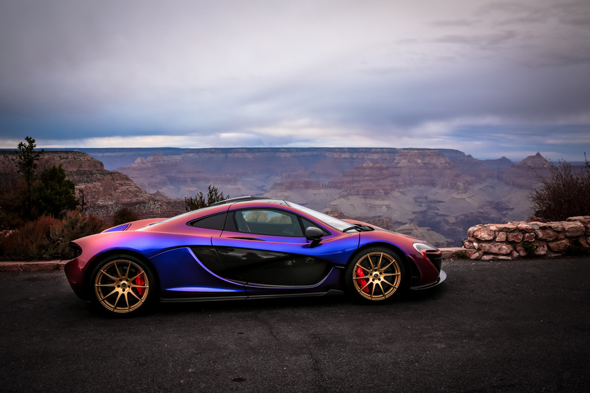 L A Angels Pitcher C J Wilson Takes His Purple Mclaren P1 To The Grand Canyon Autoevolution
