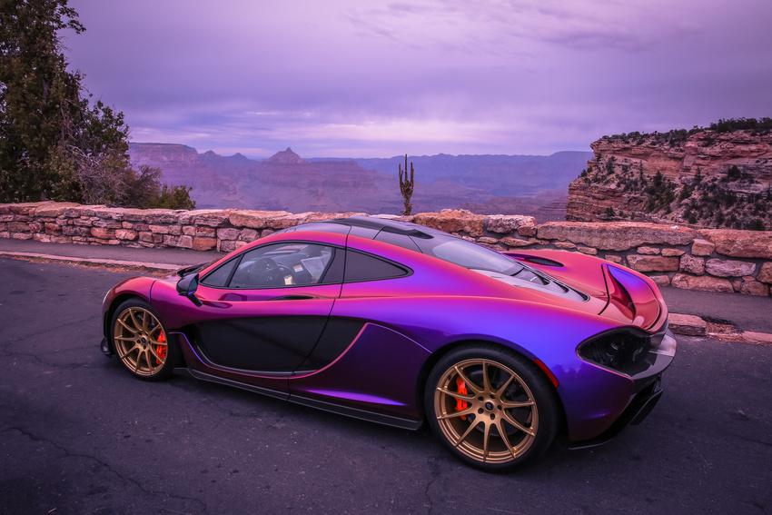 Car Paint Colors >> L.A. Angels' Pitcher C.J. Wilson Takes His Purple McLaren P1 to the Grand Canyon - autoevolution