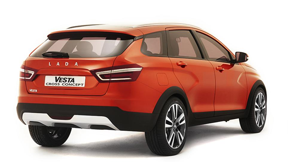 Lada Vesta Cross Concept Revealed In Moscow Looks