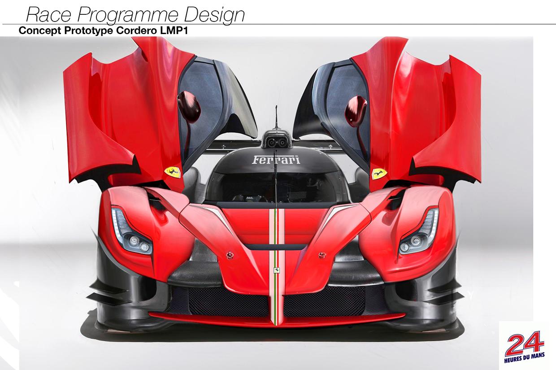laferrari lmp1 racer rendering is gorgeous like ferrari s potential le mans return autoevolution. Black Bedroom Furniture Sets. Home Design Ideas