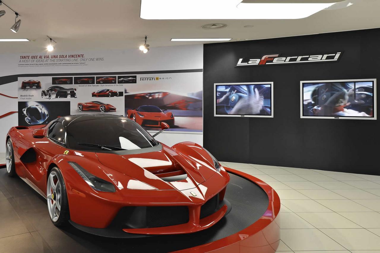 Laferrari Showcased At The Ferrari Museum In Maranello