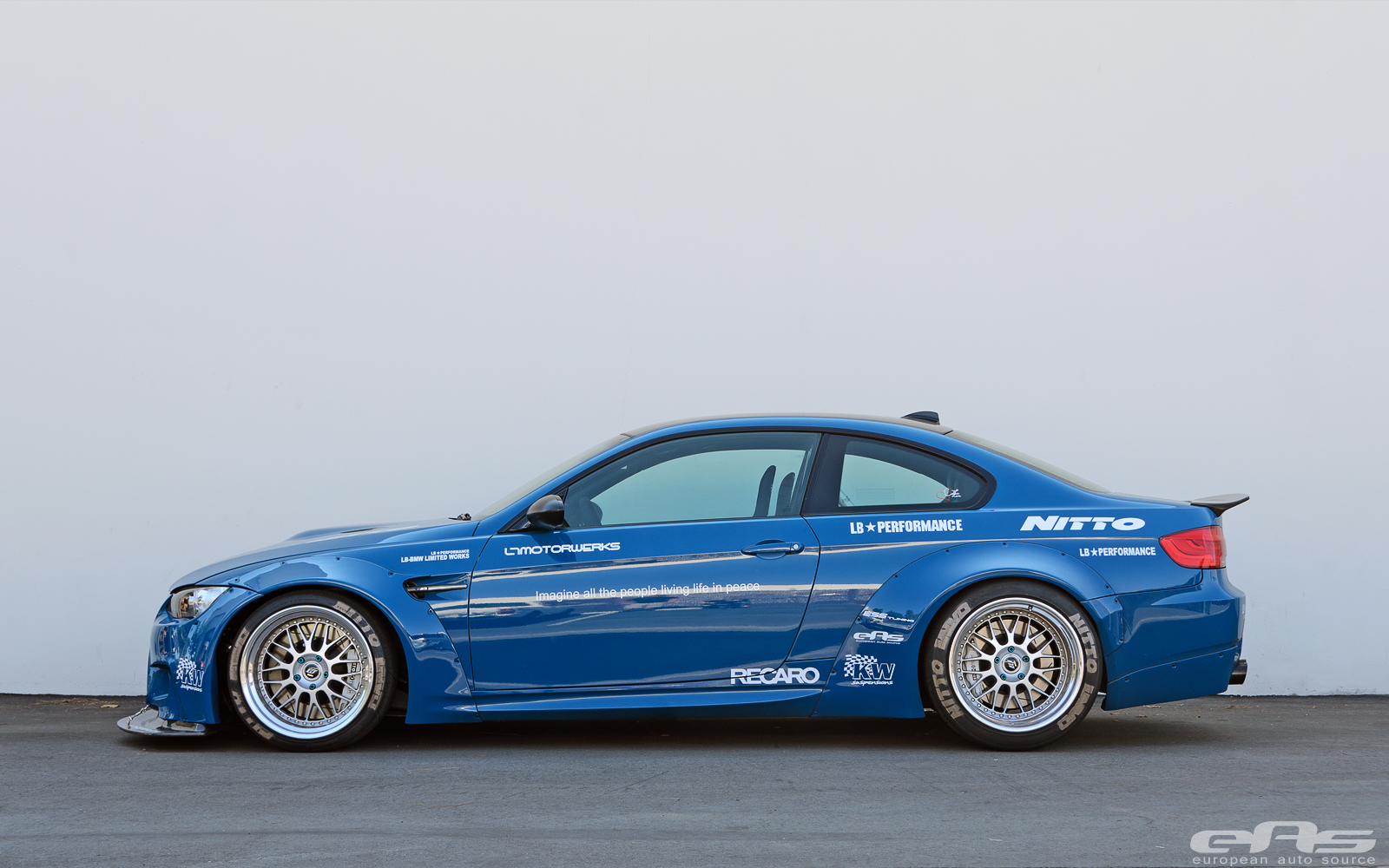 Laguna seca blue bmw m3 gets an awron gauge at eas autoevolution