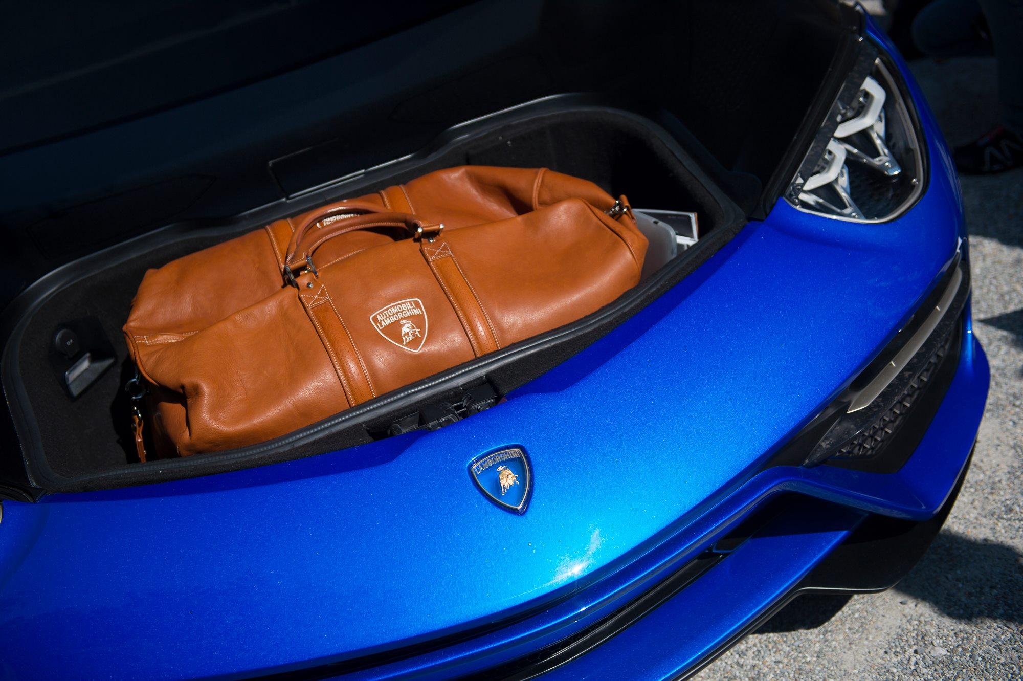 Lamborghini Asterion Shows Small Boot Poses Next To Miura At Villa