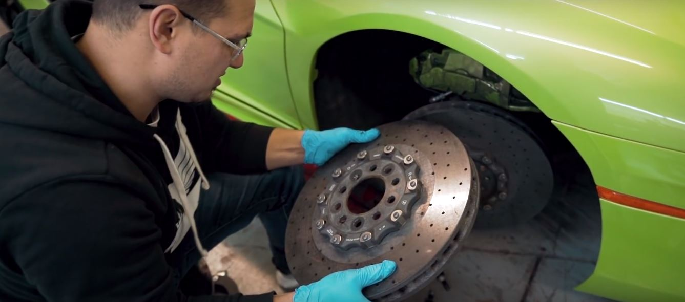 Lamborghini Aventador DIY Brake Service: How To Change the Carbon