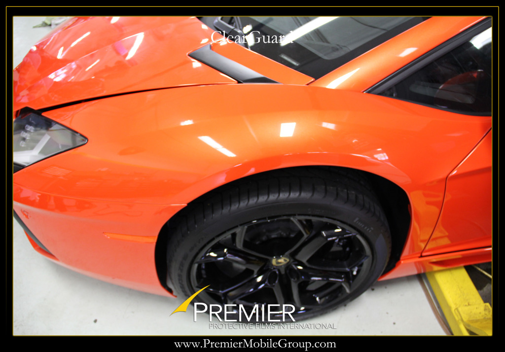 Lamborghini aventador gets clear wrap for protection for Premier paint protection