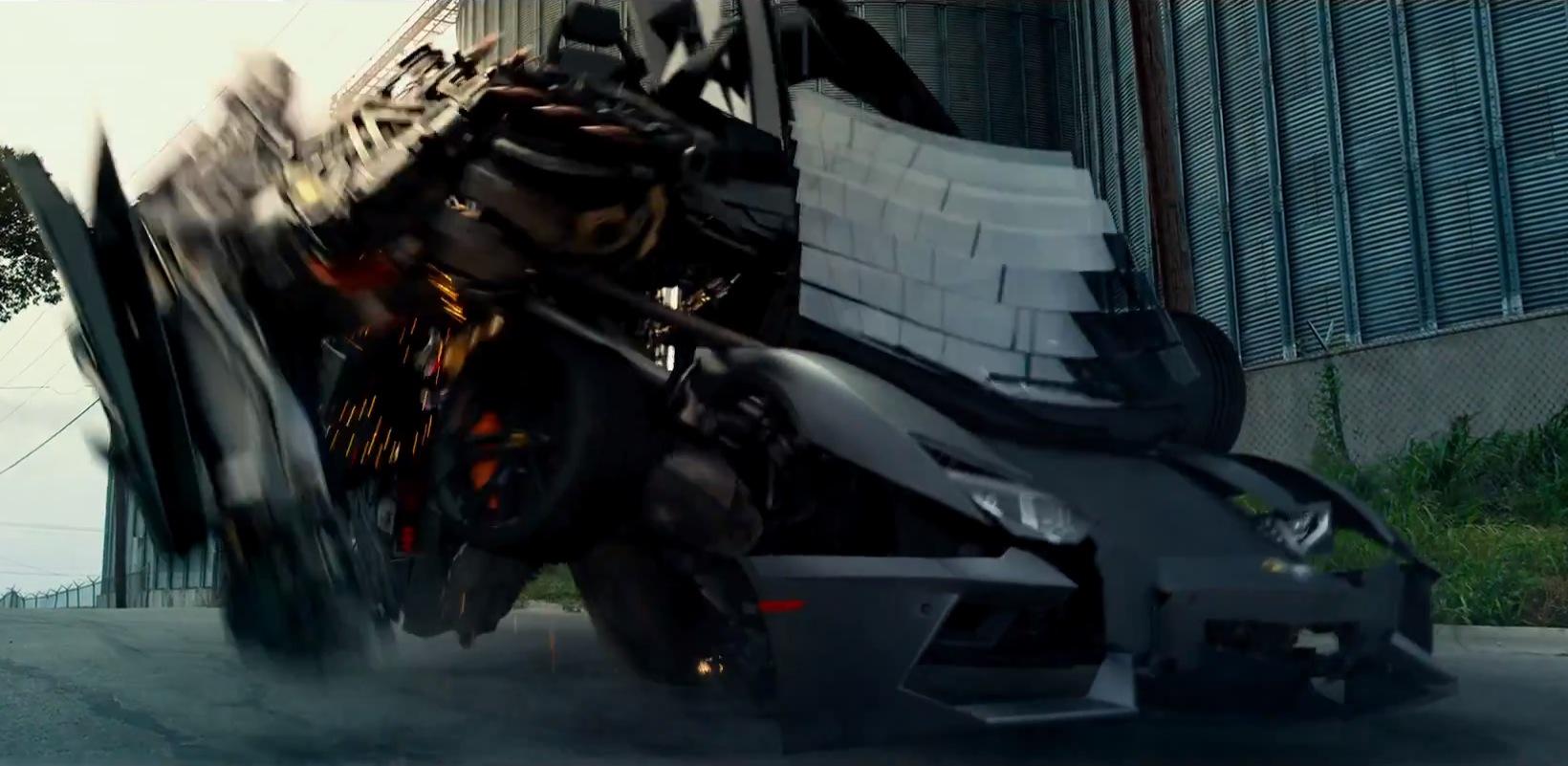 lamborghini aventador is a decepticon in new transformers