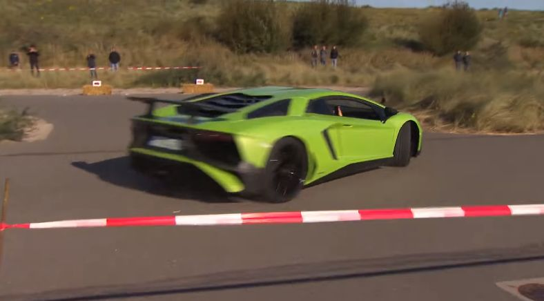 "Lamborghini Aventador SV Has ""Offroad"" Crash, Driver Keeps Going"