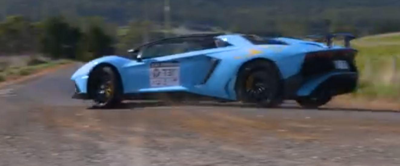 Lamborghini Aventador Sv Has Offroading Crash In Targa