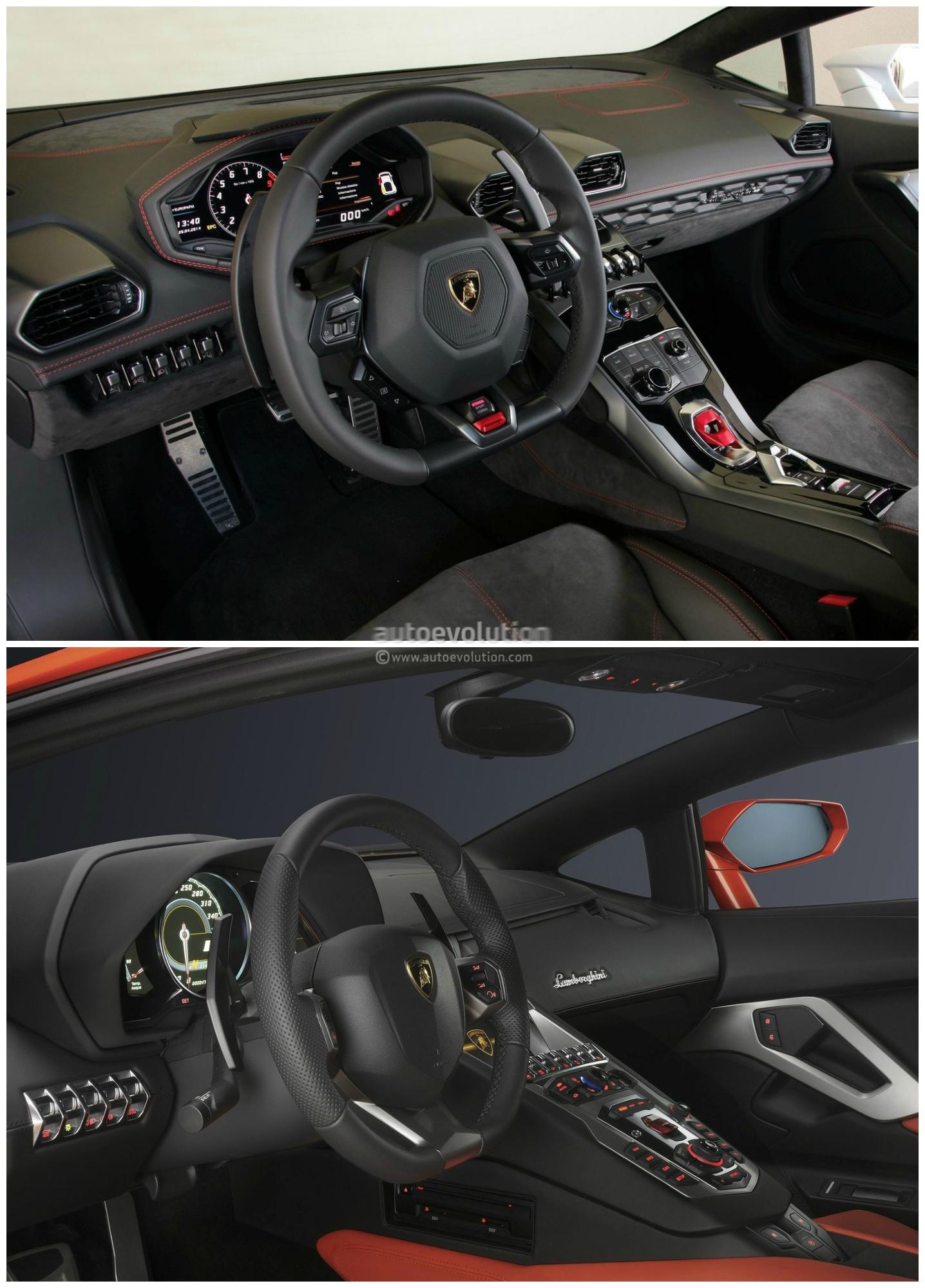 Lamborghini Huracan Vs Lamborghini Aventador Comparison: Interior ...