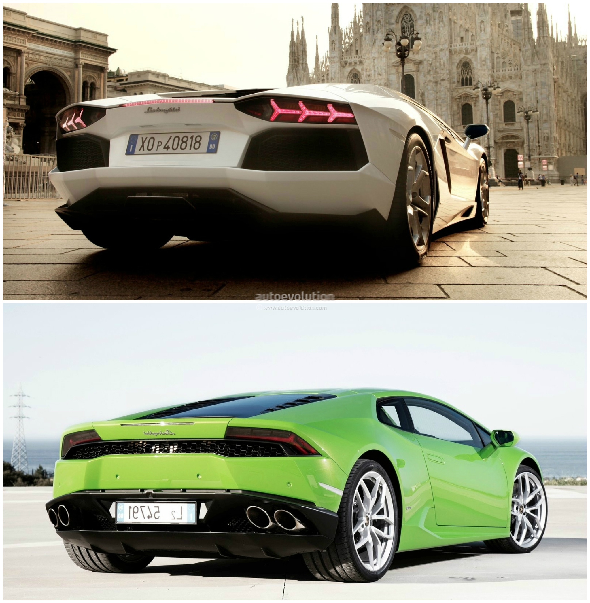Good ... Lamborghini Huracan Vs Lamborghini Aventador Comparison: Rear Three  Quarters ...