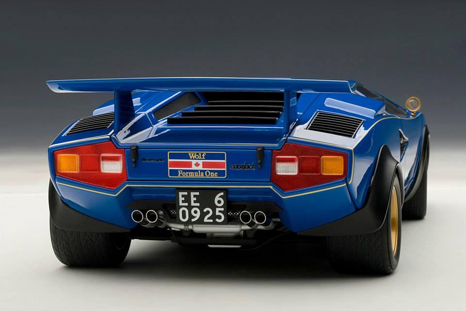 Lamborghini Countach Walter Wolf Edition Scale Model Is