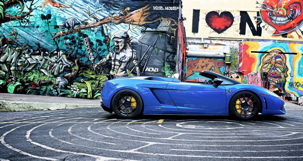 lamborghini gallardo spyder with adv1 wheels autoevolution. Black Bedroom Furniture Sets. Home Design Ideas