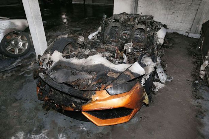 Lamborghini Huracan Burned To The Ground By British