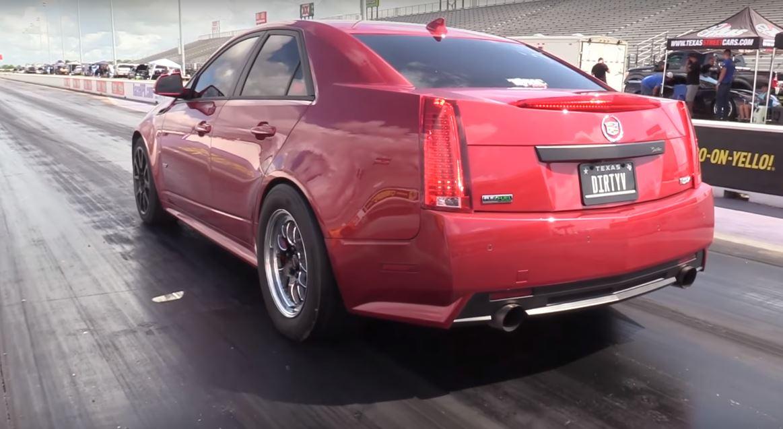 Lamborghini Huracan Drag Races Sneaky Cadillac Cts V Gets
