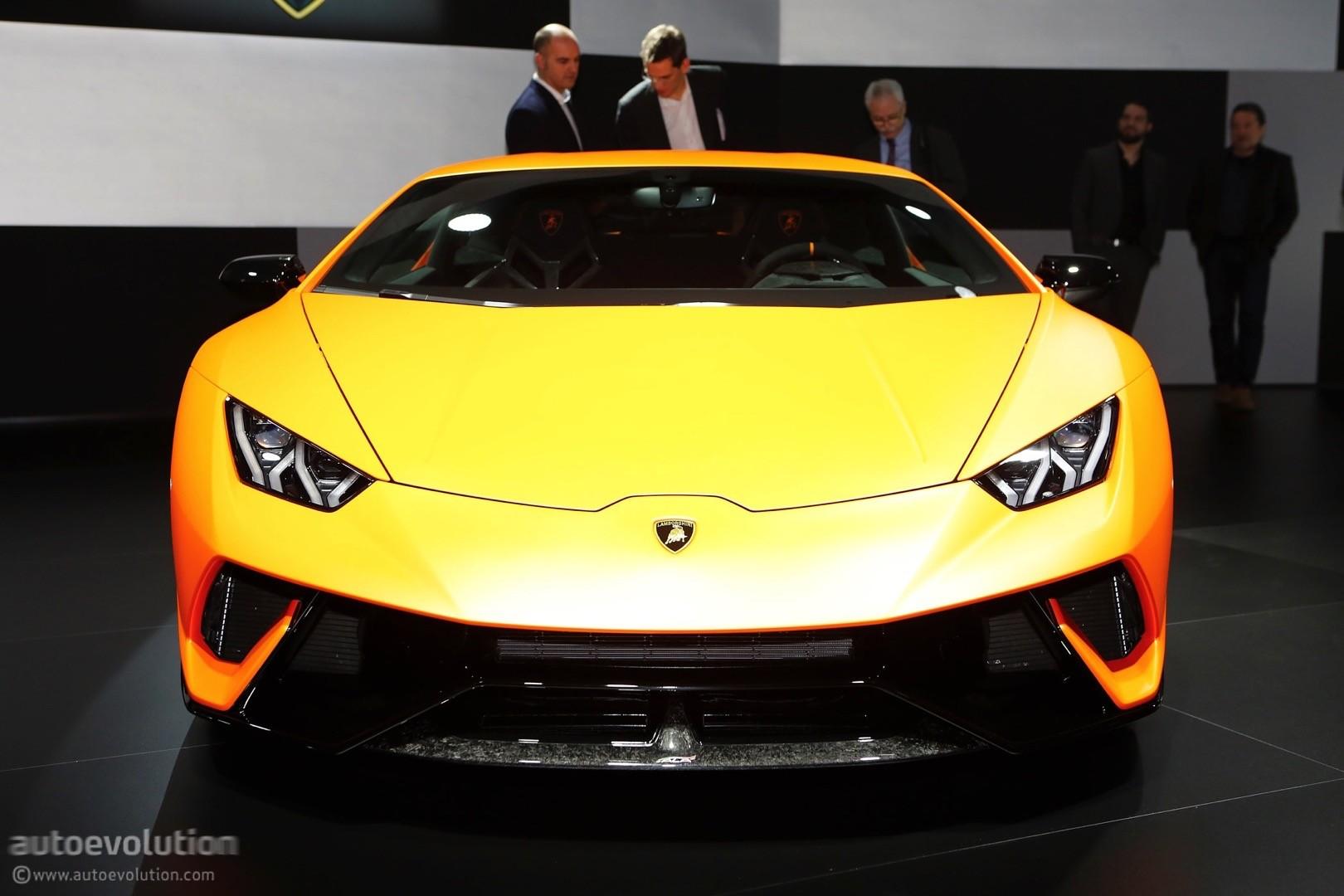 Lamborghini Huracan Performante Live At 2017 Geneva Motor Show ...