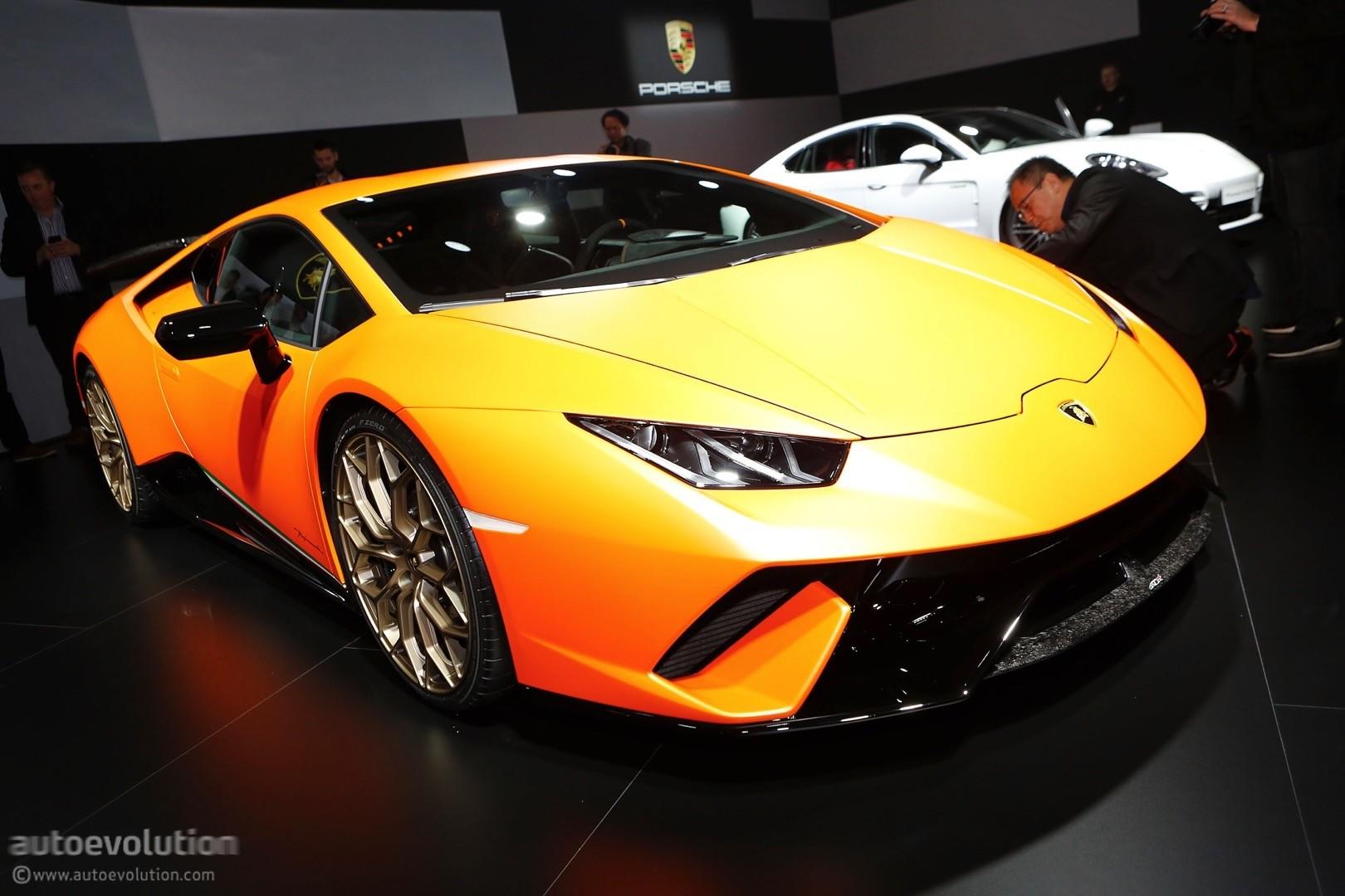 Delicieux ... Lamborghini Huracan Performante Live At 2017 Geneva Motor Show ...
