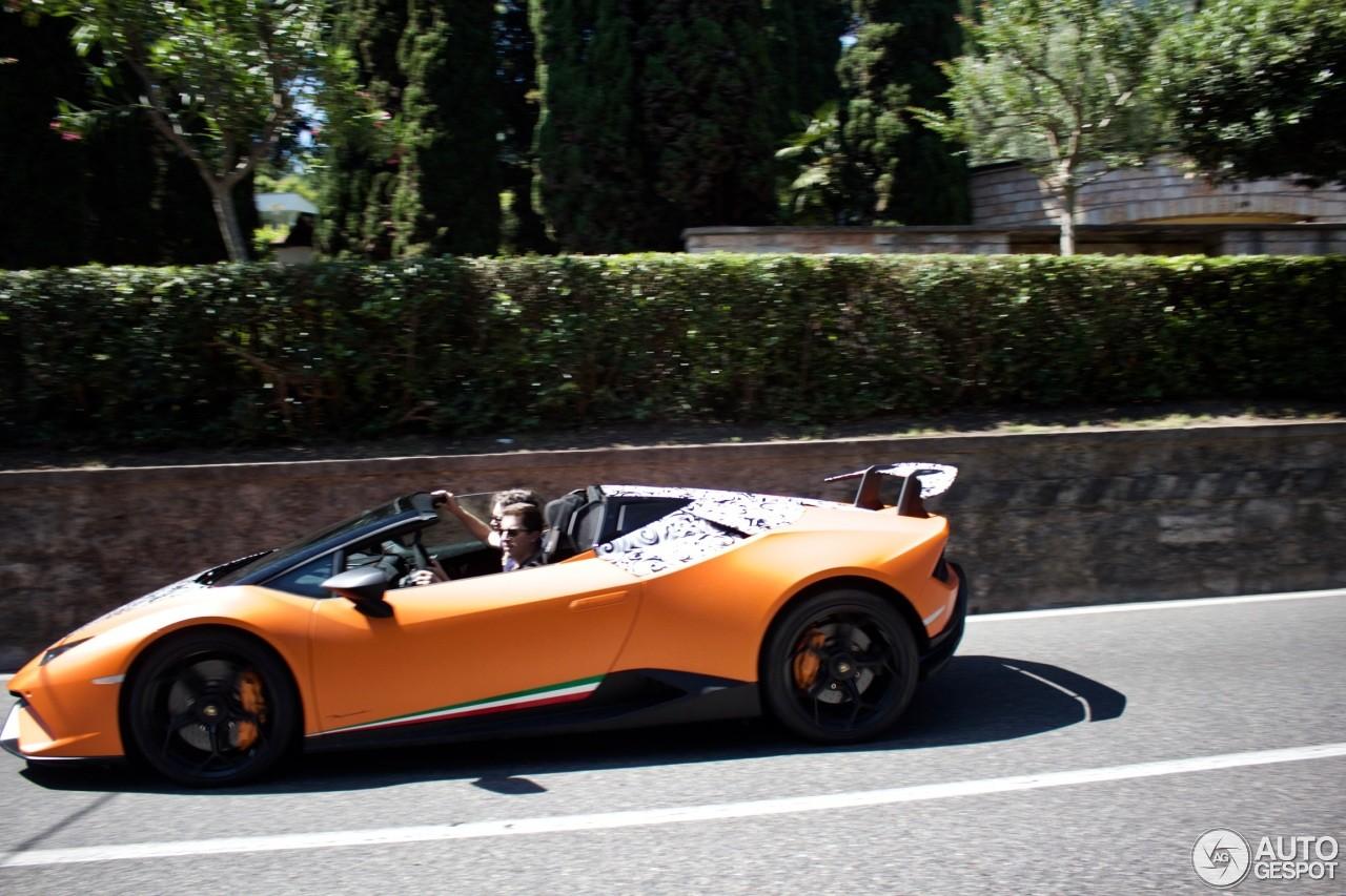 2018 Lamborghini Huracan Performante Spyder Spotted In
