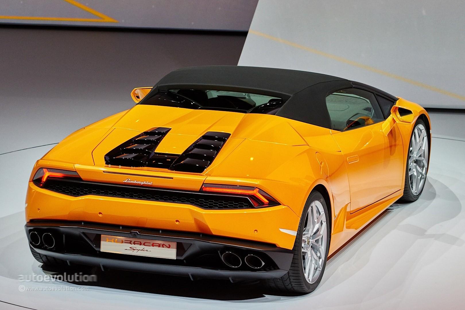Lamborghini Huracan Spyder Looks Like the Ferrari 488\u0027s Arch