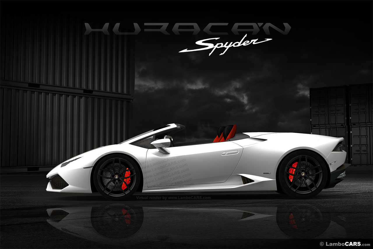 Lamborghini Huracan Spyder Roof Opening Gif Is Enjoyable