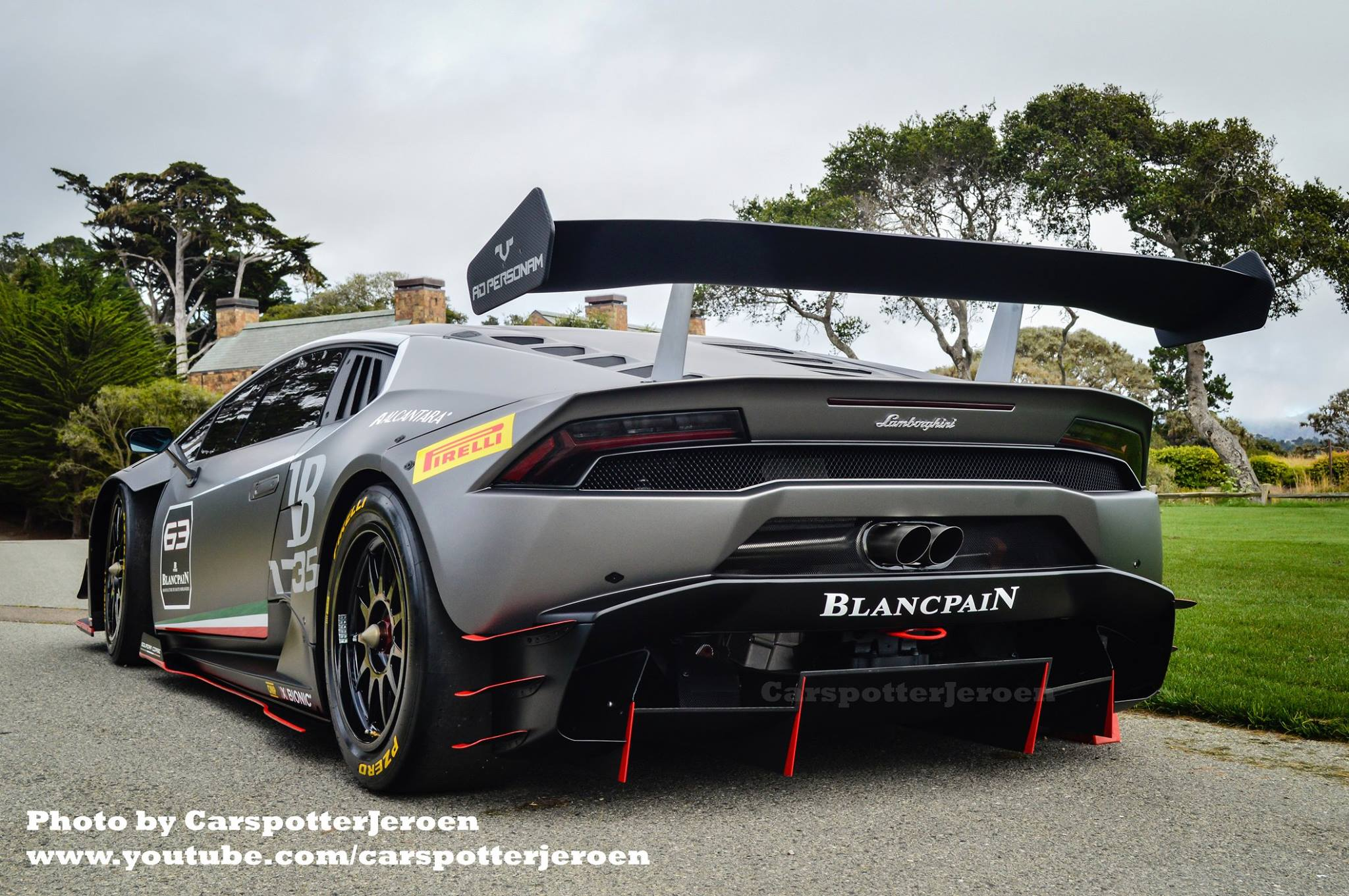 lamborghini huracan super trofeo spotted ahead of pebble beach debut video autoevolution. Black Bedroom Furniture Sets. Home Design Ideas
